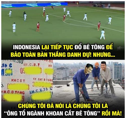 """Nhưng Việt Nam đã chứng minh điều ngược lại. """"Đổ bê tông chẳng là gì với cầu thủ Việt Nam""""."""