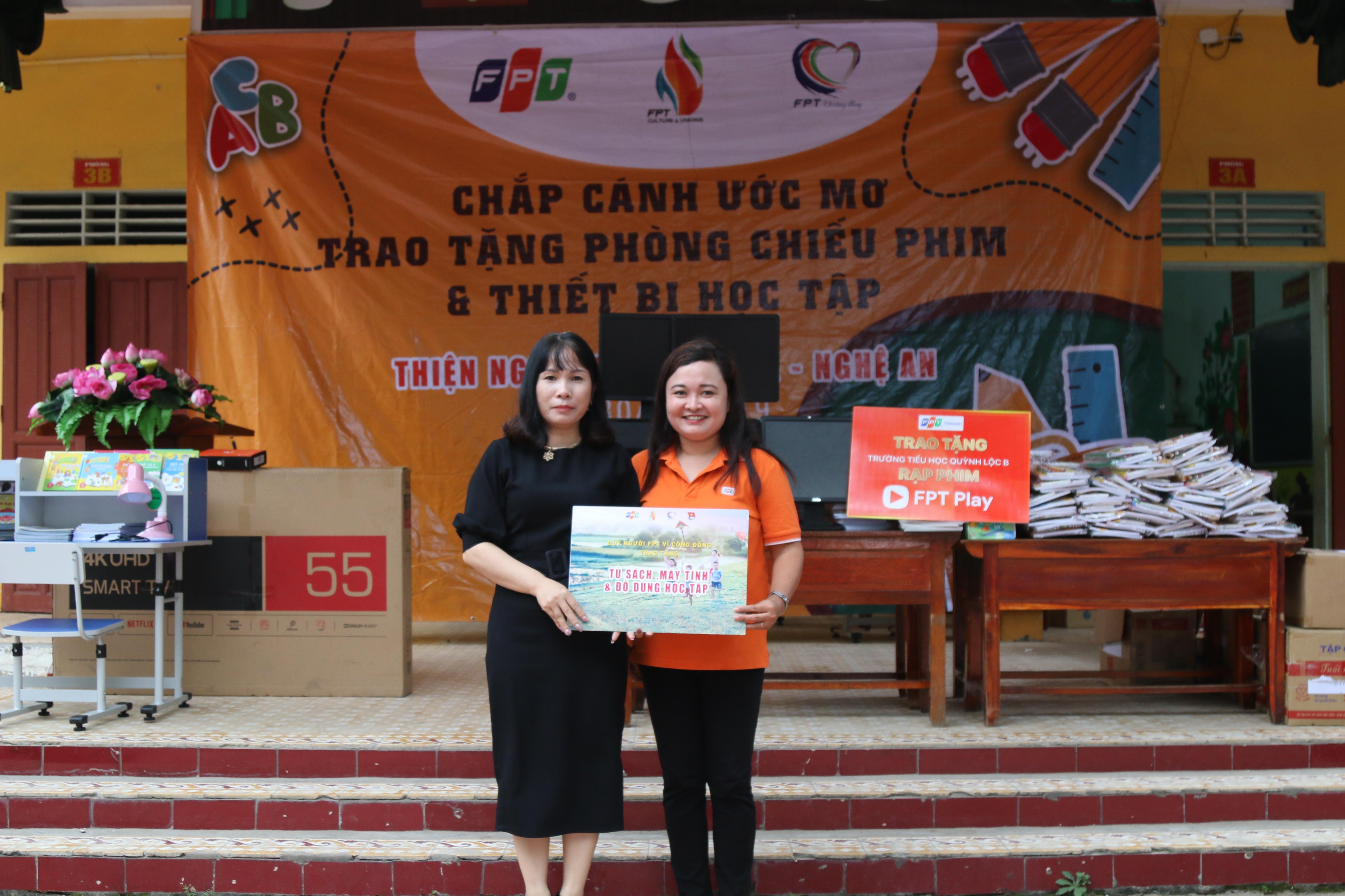 Điểm trường Trường Tiểu học Quỳnh Lộc, xã Quỳnh Lộc, tỉnh Nghệ An. là nơi chắp cánh ước cho chị Nguyễn Thị Loan, nhân viên FPT Software.