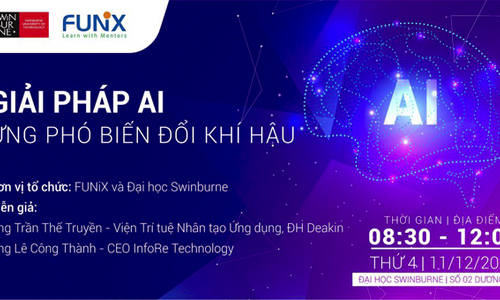 FUNiX tổ chức hội thảo về giải pháp AI trong biến đổi khí hậu