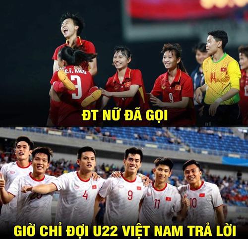 Giờ chỉ còn chờ U22 Việt Nam hoàn thành cú đúp vàng ở môn bóng đá.