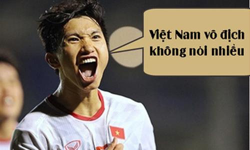 Ảnh chế Việt Nam đè bẹp Indonesia trong trận chung kết có 'Hậu'