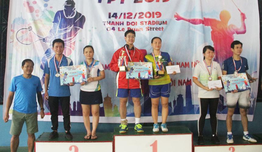 Là hai tay vợt FPT Edu hiếm hoi tham gia tranh tài giảiBadminton Tennis Champion Cup 2019, nhưng Thiên Long và Kiều Loan đã khiến các tay vợt FPT Software nhận thất bại. Họ đánh bại thuyết phục Quang Bình và Hà An, FPT Software, trong trận chung kết để lên ngôi vô địch.