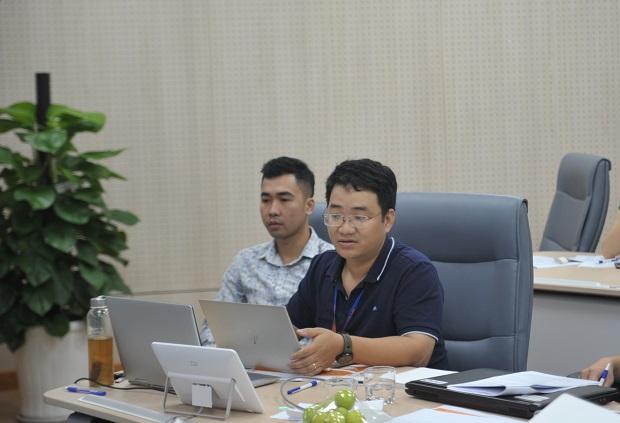 Tác giả FPT.Fortuna - Phạm Minh Tuấn tại vòng sơ khảo iKhiến. ảnh: Thế Trâm.
