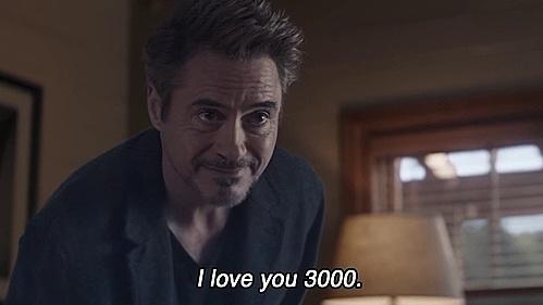 'Love you 3000' là câu thoại nổi tiếng trong bộ phim điện ảnh bom tấn của Vũ trụ điện ảnh Marvel: Avengers: End Game. Đây là lời cô con gái Morgan dành cho người bố Iron Man (Tony Stark) khi chuẩn bị đi ngủ.