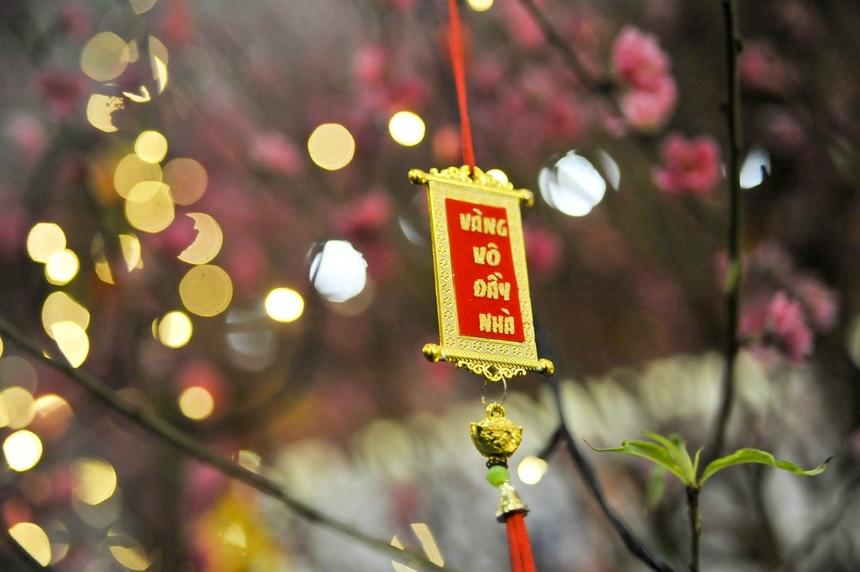Một lời nguyện ước được gửi gắm trên cây đào trong sảnh chính của tòa nhà FPT Cầu Giấy. Như thường lệ, ngay sau phần Lễ là phần Hội - chương trình chính của Hội làng FPT 2020, diễn ra cùng ngày tại công trường xây dựng FPT Tower, Phạm Văn Bạch, Hà Nội.