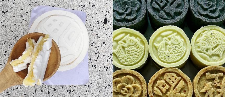 Nguyên liệu làm bánh mộc mạc từ bột nếp, bột đậu xanh, hạt sen… nhưng cách làm khá cầu kỳ và công phu. Lịch sử của món bánh cộ bắt nguồn từ thời nhà Nguyễn, thức bánh này được dâng lên vua uống trà vào dịp Tết Nguyên đán. Bánh mang ý nghĩa chúc vua trường thọ nên dần trở thành đặc sản không thể thiếu của Huế mỗi dịp đầu năm. Ảnh: At_vo, uneboucheepour.