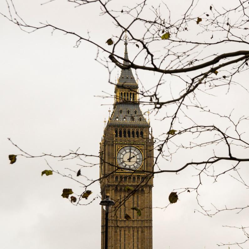 Tháp đồng hồ Bigben - biểu tượng vĩnh cửu của thành phố London. Ảnh: Hoàng Đồng Tiến
