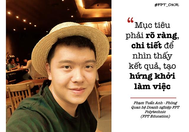 Phạm Tuấn Anh mong muốn mang tới nhiều cơ hội cho sinh viên FPT Polytechnic. Ảnh:Hà Trần.