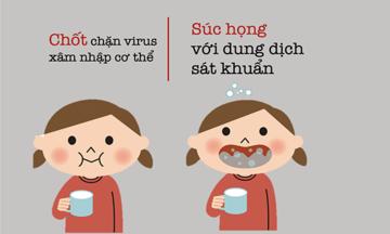 Súc họng là chốt chặn ngăn virus Corona xâm nhập cơ thể