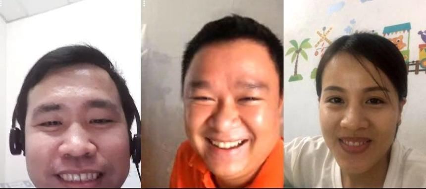 Làm việc tại nhà không khí vắng vẻ và có chút buồn là cảm nhận của chị Trần Thị Kim Thoa (phải) - FPT Telecom Hà Nội. Bình thường lên công ty gặp gỡ đồng nghiệp, ăn mặc cũng chỉn chu hơn.Tuy nhiên mọi người vẫn thường xuyên trao đổi qua video để nắm bắt tình hình của đồng nghiệp.