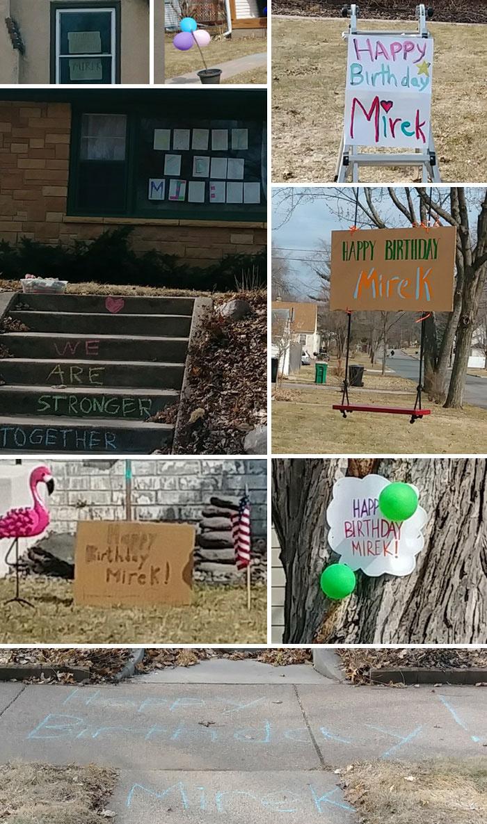 Toàn bộ khu phố đã cùng nhau chúc mừng sinh nhật một đứa trẻ dù không được phép tổ chức tiệc.