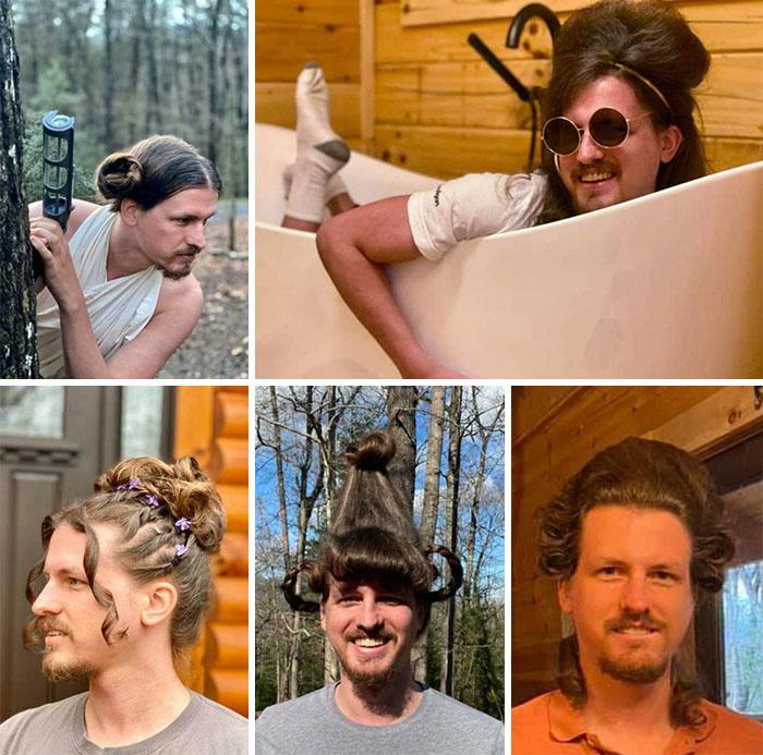 Một nhà tạo mẫu tóc làm tóc cho bạn trai mỗi ngày họ bị cách ly.