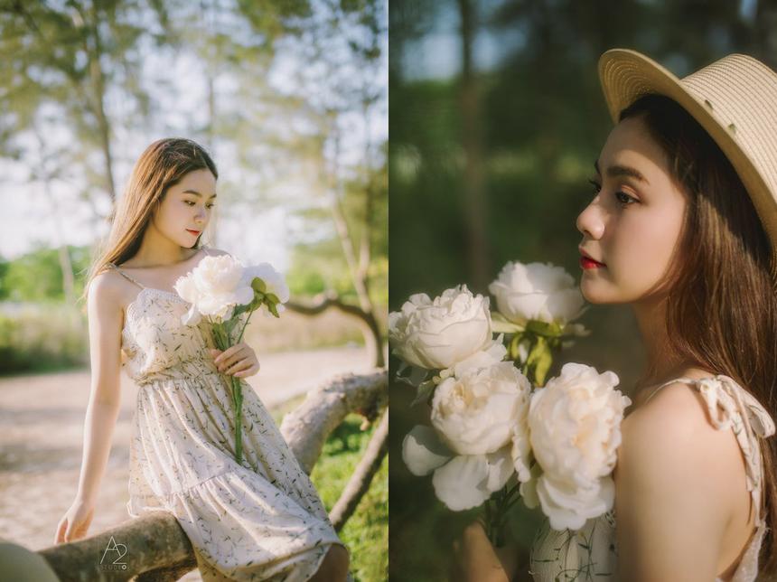 """Gương mặt ưa nhìn cùng nụ cười """"toả nắng"""" giúp Phương Trinh lọt vào Top 100 Miss Teen Việt Nam 2017 và danh hiệu Nữ thanh niên thanh lịch 2017 của TP Cần Thơ."""