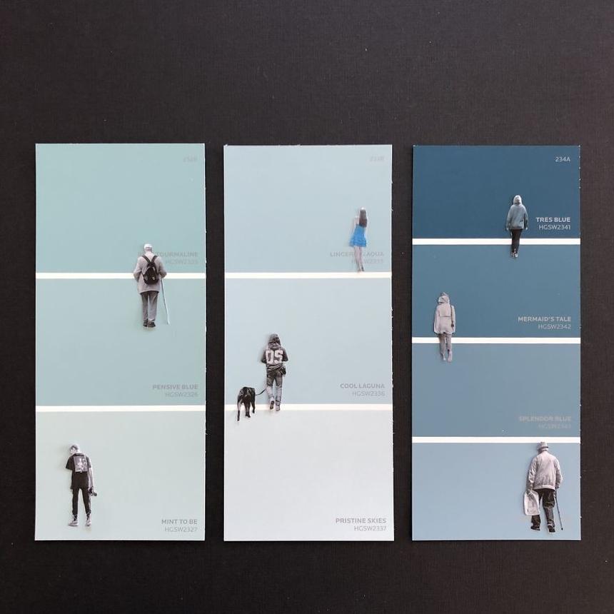 Ngày 4: Giữ khoảng cách 2 mét Hình ảnh được cắt đặt trên vỏ hộp màu.