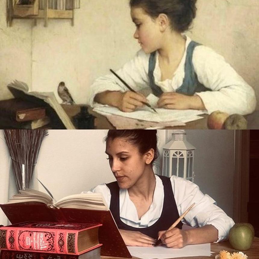 Nghỉ cách ly, ngày nào với em cũng chỉ có học và làm bài tập.