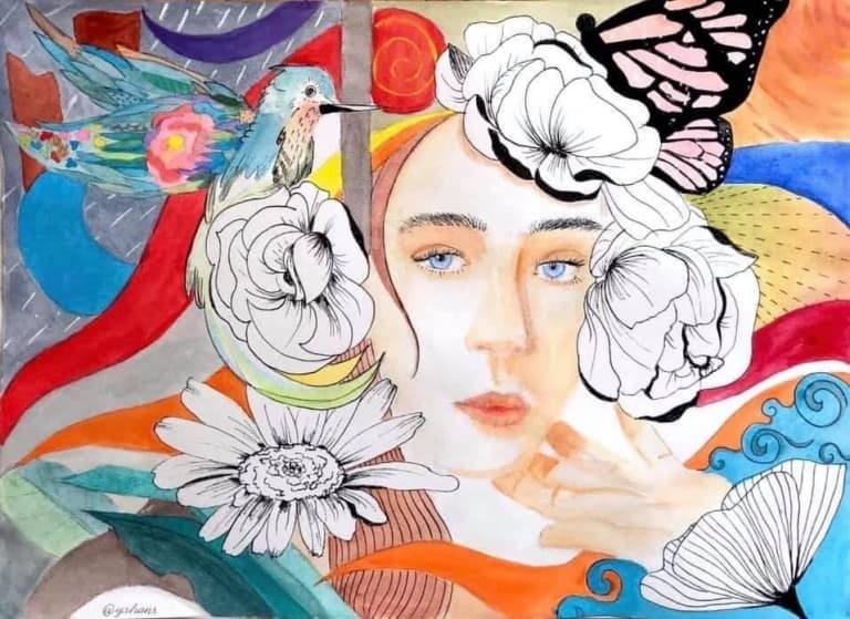 """Trải qua các bài tập cá nhân vẽ chân dung, những tân sinh viên K15 ngành Thiết kế Mỹ thuật số ĐH FPT đã kết thúc môn học bằng bài tập """"độc lạ"""" với chủ đề """"Phác hoạ chân dung cảm thụ âm nhạc""""."""