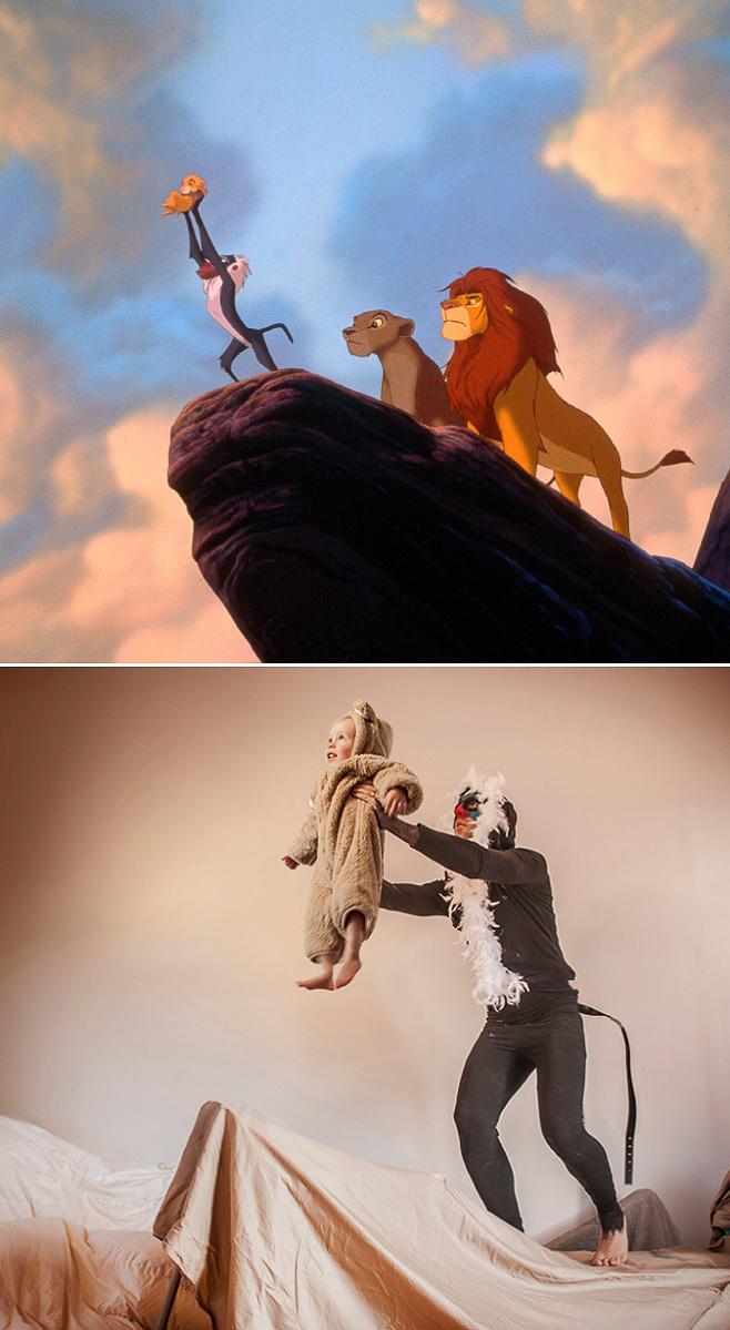 Lion King phiên bản mô phỏng giá rẻ nhưng được đầu tư trang phục khá kĩ lưỡng.