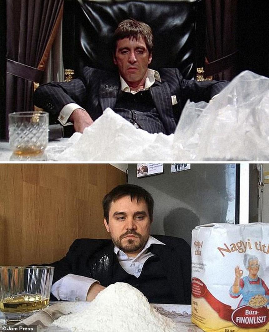 Đóng phim thì người ta cũng chỉ dùng bột mì thay cho ma túy thôi chứ có gì khác biệt đâu, quan trọng là thần thái vẫn giống Al Pacino trong Scarface là được rồi.