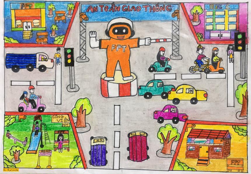 Người FPT còn có thể điều khiển giao thông theo cách của mình - một sáng tạo khác của bé Lê Vân An. Chương trình Happy Home 2020 không giới hạn số lượng tác phẩm tham dự của mỗi cá nhân ở cả 4 lĩnh vực: Hội hoạ - Tạo hình, Ẩm thực, Nghệ thuật biểu diễn, Công nghệ. Trong đó, với Hội hoạ - Tạo hình, các tác phẩm tham gia có thể là tranh vẽ, sản phẩm tạo hình nghệ thuật dưới các chất liệu, sản phẩm làm thủ công.