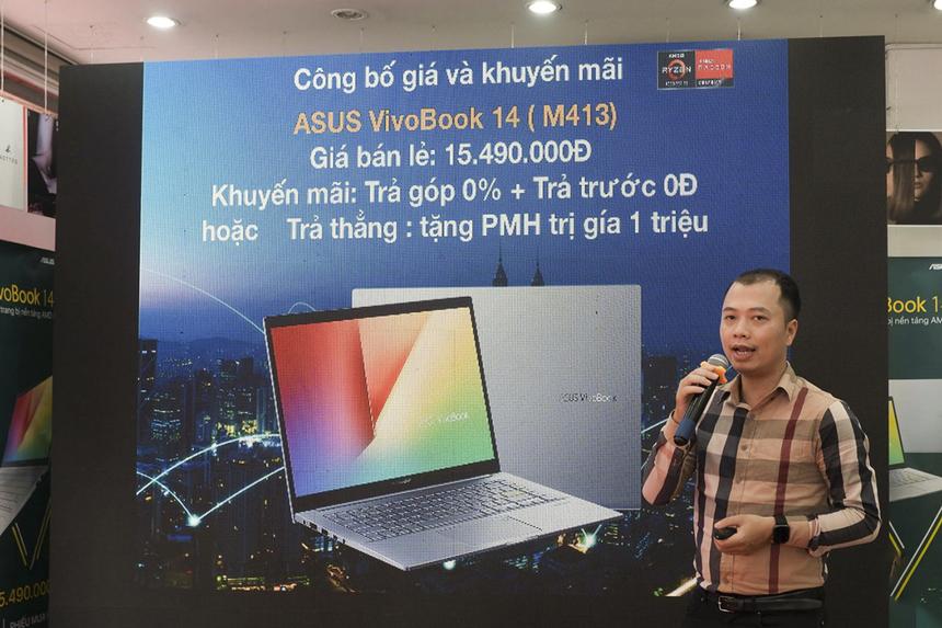 FPT Shop chính thức mở bán độc quyền dòng laptop Asus VivoBook 14 (M413) - một trong những chiếc laptop đầu tiên sử dụng vi xử lý AMD Ryzen 5 4500U thuộc dòng AMD Ryzen 4000 series hiện đại nhất hiện nay.