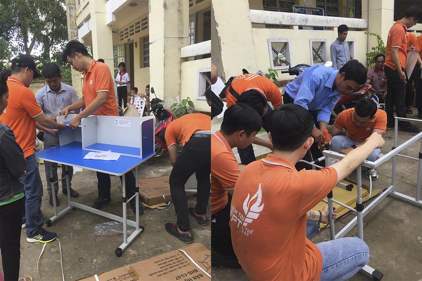 """Chuyến thiện nguyện của Synnex FPT phía Nam với tên gọi """"Hướng vế quê"""", được tổ chức tại trường Tiểu học và THCS Kế Thành (huyện Kế Sách, Sóc Trăng) vào ngày 11/7."""