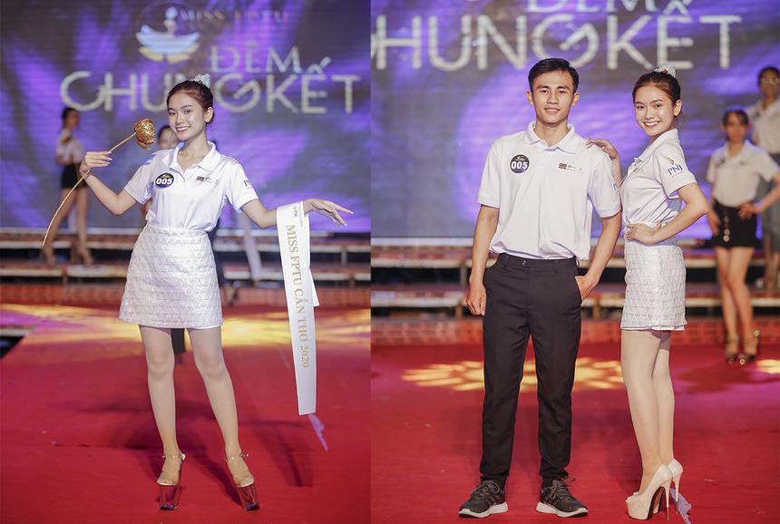 """Trước khi tham gia cuộc thi Miss FPTU Cần Thơ 2020, Phương Trinh được biết đến với danh hiệu """"nàng thơ đa tài"""" của ĐH FPT Cần Thơ. Đam mê múa ngay từ nhỏ, cô nàng là thành viên của Đội Nghệ thuật Măng non thuộc Nhà Văn hoáCần Thơ."""