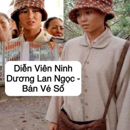 Ngọc nữ Ninh Dương Lan Ngọc bị đồng nghiệp BB Trần gán cho nghề bán vé số dạo.
