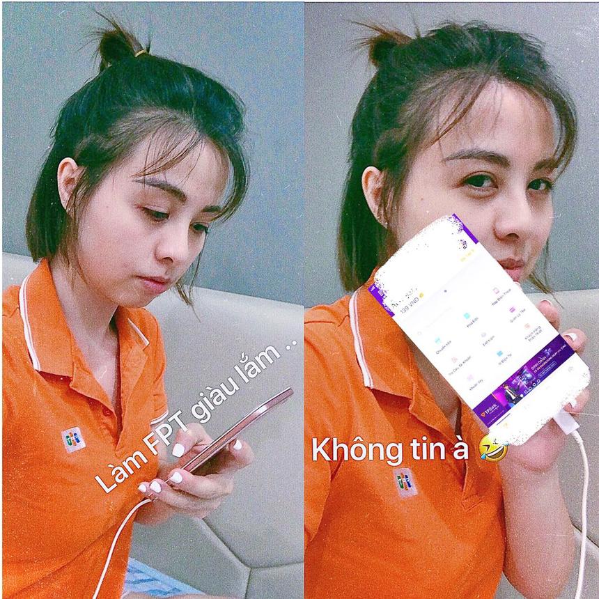 Chị Ngọc Mai, bộ phận PR - Synnex FPT đưa con số tài khoản về đúng...139 đồng để thực hiện thử thách số 5.