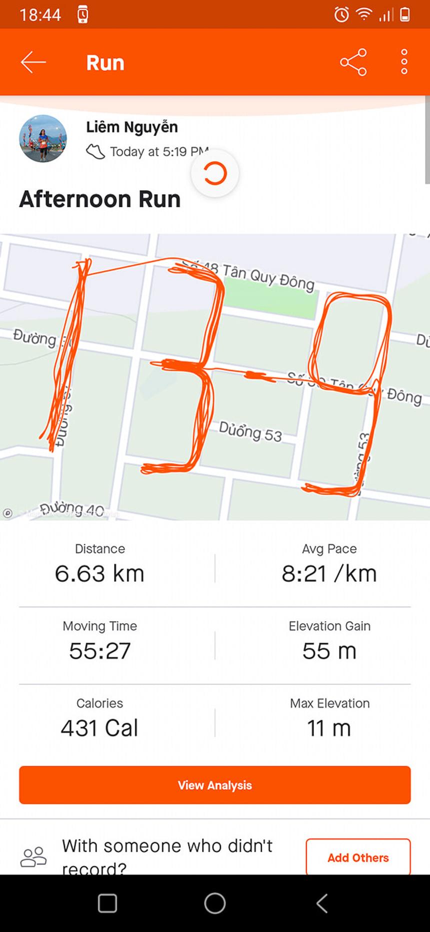 Anh Nguyễn Thanh Liêm - Synnex FPT có bài dự thi đúng chuẩn 'runner nhà F'. Anh là một gương mặt không xa lạ trong giới chạy FPT. Gần đây nhất, anh tham dựVnExpress Marathon Quy Nhơn 2020 ở cự ly 21 km.
