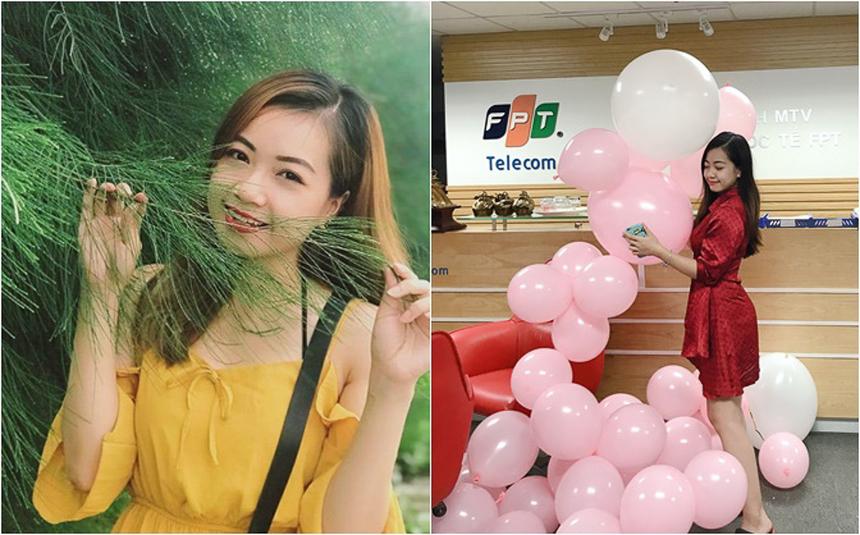 Cô nàng Quỳnh Trang đang làm việc tại Trung tâm Dịch vụ Công nghệ Tài chính Ngân hàng Toàn quốc (DFB) của FTI. Trước đó, thành viên sinh năm 1997 từng có thời gian thực tập tại Ban Nhân sự FTI.