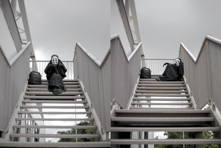 Vô Diện bên chiếc cầu thang sống ảo của nhiều cặp đôi. Campus Cần Thơ được thiết kế bởi công ty kiến trúc nổi tiếng Pháp, vì vậy không gian mang nét mới lạ, sáng tạo theo hơi hướm phương Tây.