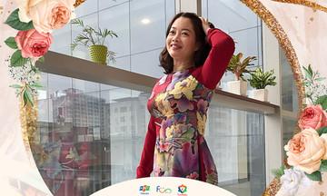 Phái nữ FPT Telecom mặc áo dài vì đồng nghiệp miền Trung
