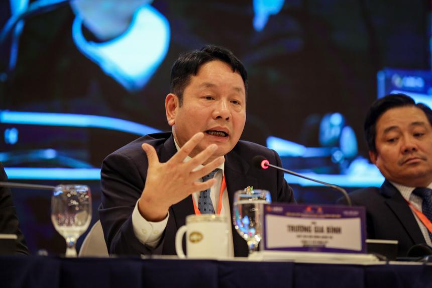 """Anh Trương Gia Bình khẳng định: """"Thành phố thông minh là cách lựa chọn duy nhất thông minh để phát triển kinh tế xã hội quốc gia"""" và chia sẻ 5 lưu ý để xây dựng đô thi thông minh."""