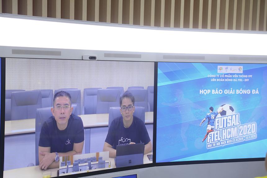 """""""Việc khởi động giải futsal FPT Telecom là thành công lớn của liên đoàn sau khi bị gián đoạn do ảnh hưởng của dịch Covid-19. Đây là sân chơi để các anh em vui chơi, giải tỏa áp lực làm nghị. Đề nghị BTC tổ chức giải sao cho tất cả các đội đều có thể tham gia đến ngày bế mạc"""", CEO FPT Telecom Hoàng Việt Anh chia sẻ khi theo dõi buổi ra mắt giải đấu."""