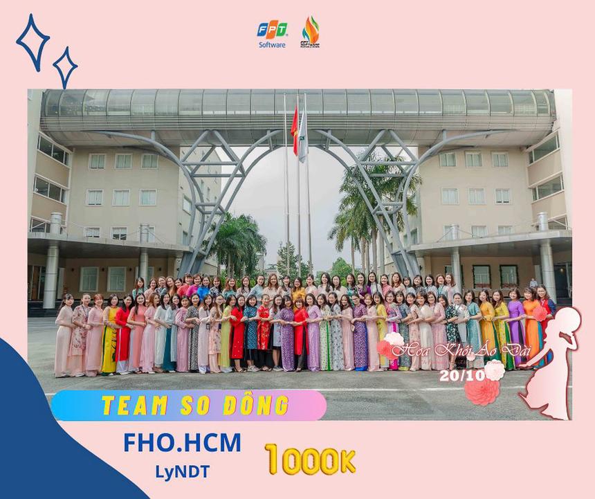 Khối Văn phòng FPT Software HCM sở hữu bức ảnh đông nhất và giật giải 1 triệu đồng.