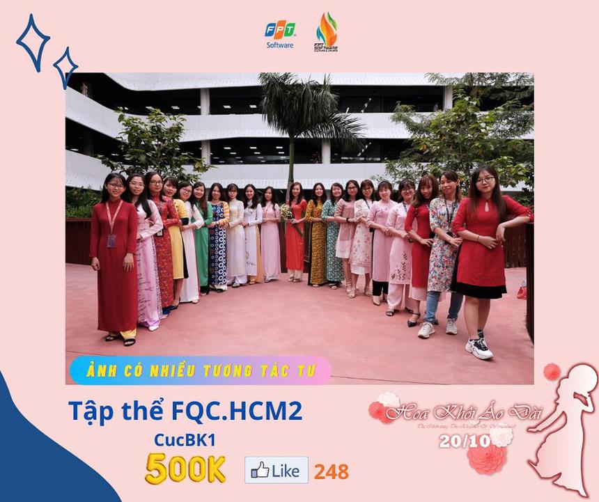 Tập thể FQC giành giải thưởng 500.000 đồng với bức ảnh có nhiều tương tác tư.