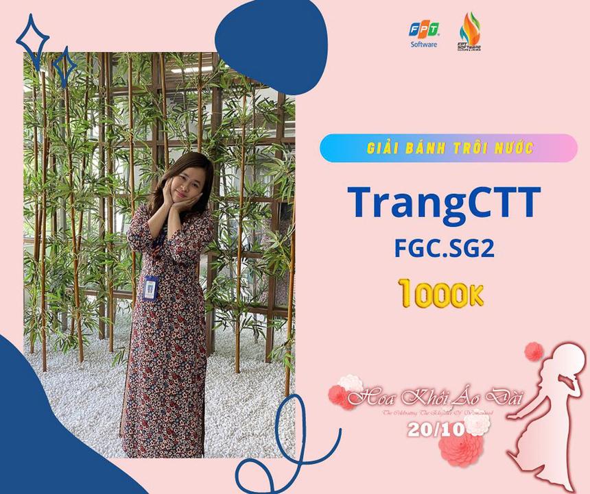 """Chu Thị Thùy Trang (FGC.SG2) được giám khảo trao giải """"Bánh trôi nước"""" trị giá 1 triệu đồng"""