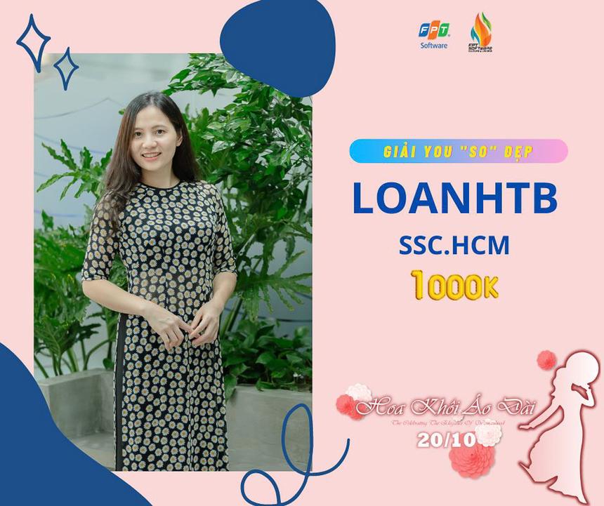 """Chị Hà Thị Bắc Loan (SSC) được chấm giải You """"So"""" Đẹp trị giá 1 triệu đồng."""