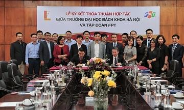 FPT ký kết thỏa thuận hợp tác với Đại học Bách khoa Hà Nội