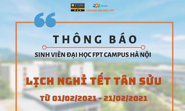 Sinh viên nhà F Hà Nội nghỉ Tết sớm 1 tuần