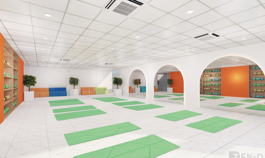 """Tại Greenwich (Việt Nam), sinh viên được khuyến khích phát triển toàn diện cả thể chất, tinh thần và trí tuệ. Không gian Yoga """"xìn xò"""" không khác gì một trung tâm chuyên nghiệp."""
