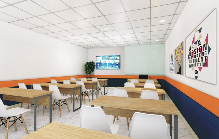 Các phòng học được thiết kế hiện đại, tạo cảm giác thoải mái. Nhà trường cũng có những phòng học cỡ lớn, kích thích khả năng sáng tạo và tăng tương tác giữa sinh viên - giảng viên.