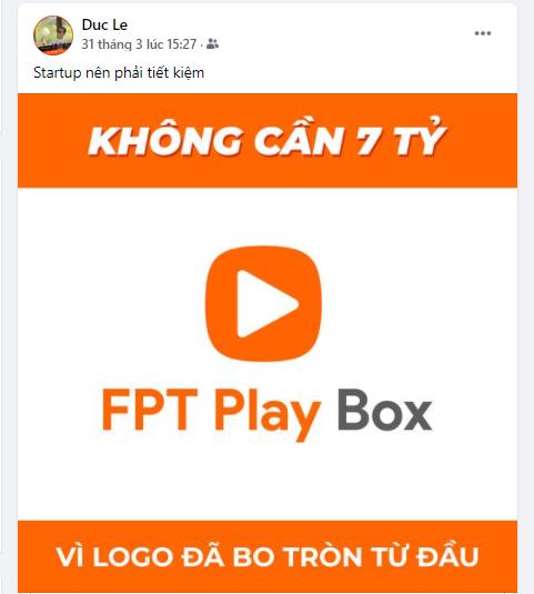 Giám đốc FPT Play Lê Trọng Đức nhấn mạnh khởi nghiệp là phải tiết kiệm nên đã bo tròn logo từ đầu.