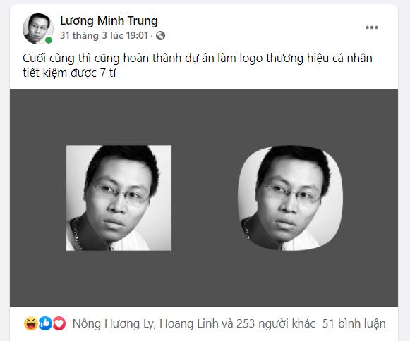 Anh Lương Minh Trung, quản lý phòng Phát triển sản phẩm của dự án FoxPay, FPT Telecom, dùng ảnh mình trong khung vuông và bo tròn.