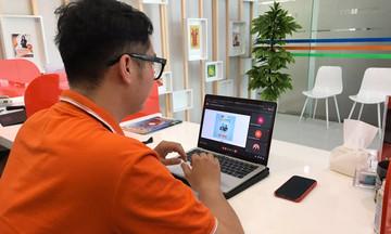 Sinh viên nhà F hào hứng thi Olympic online