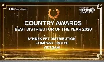 Nhà Phân phối giành cú đúp giải thưởng Dell Technologies Nam Á