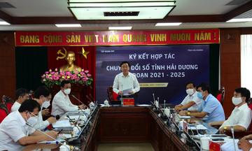 FPT hợp tác Hải Dương thực hiện chuyển đổi số giai đoạn 2021 - 2025