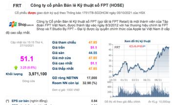 Cổ phiếu FRT tăng trần
